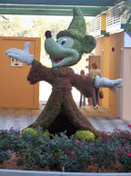 Mickey Mouse topiary at Disney World