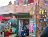 One of the shops in the morocco pavilion at Epcot.