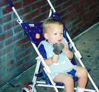 My son enjoying a Mickey Ice Cream Treat
