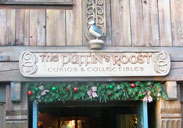 Th Puffin Roost Gift Shop in Norway at Epcot.