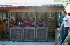 The Wildlife Express Train takes guests to rafiki's Planet watch at Disney's Animal Kingdom.