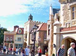 the united Kingdom pavilion in the world showcase in Epcot.